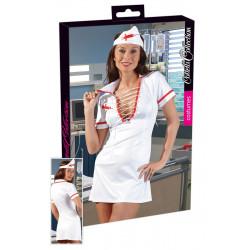 Sygeplejerske hvid Satin