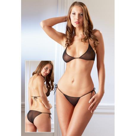 Cottelli Bikini Transparent Sort