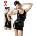 Late X Latex Mini Skirt Sort kjole