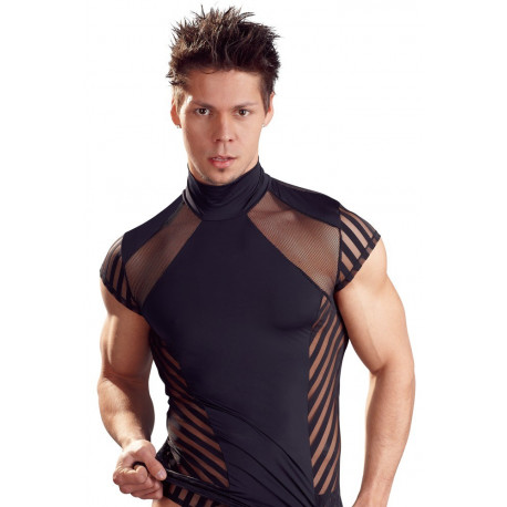 Svenjoyment Herre Stripe Shirt Sort