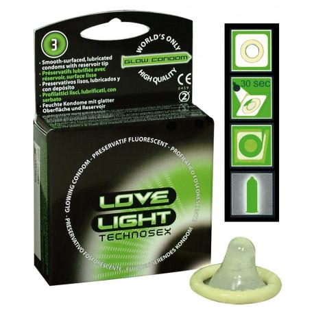 Love Light Glow In Dark Kondom Selvlysende