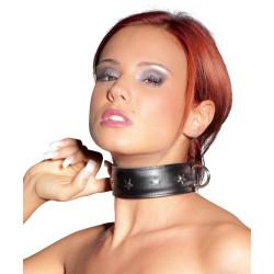 Zado Justerbart Læder Halsbånd med Nitter