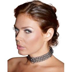 Zado Metal og læder halskæde