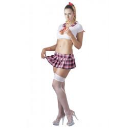 Skolepige Kostume Sæt Top og Skirt