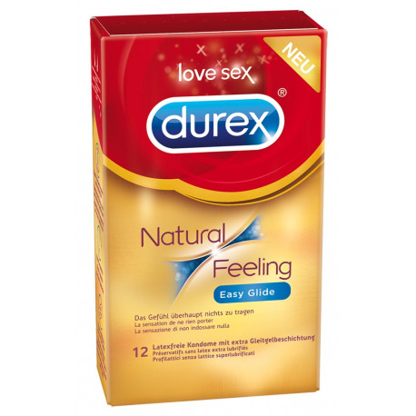 Durex Natural Feeling Easy Glide Ekstra Fugtige Kondomer