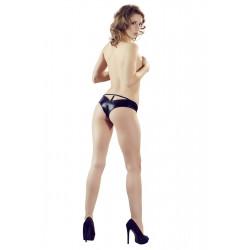 Cottelli Wetlook Panties med Smykkesten