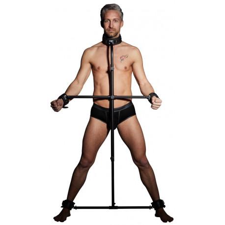 Zado BDSM Gabestok med Læder Manchetter