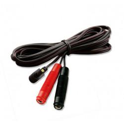Mystim Adapter Kabel Rundstik til 4 mm Bananstik Kobling