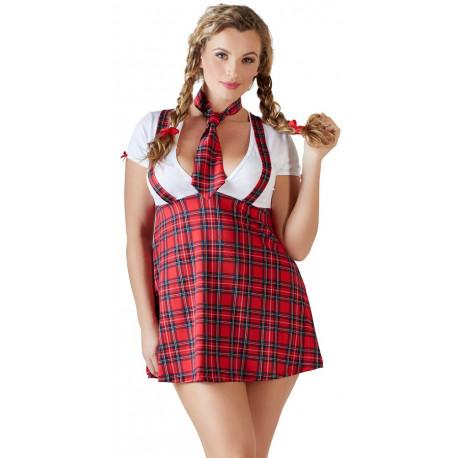 Cottelli Plus Size Rødternet Skolepige Kostume