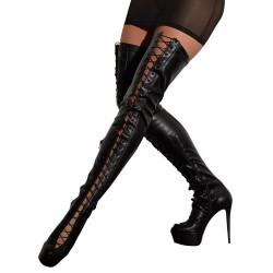 Cottelli High Heels Overknee Snørestøvler