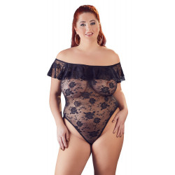 Cottelli Plus Size Skulderfri Blonde Bodystocking