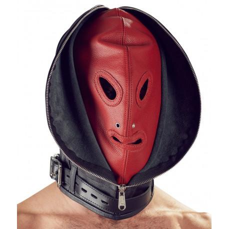 Zado Dobbelt Lædermaske med Lynlås