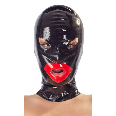Late X Latex maske med Læber