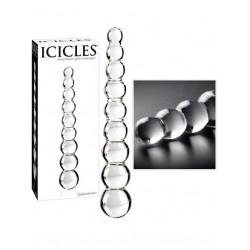 Icicles No 2 Rillet Glas Dildo
