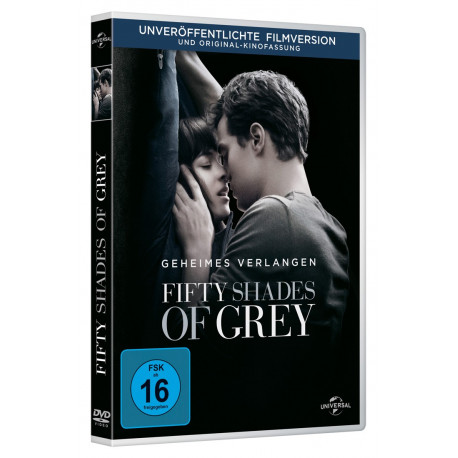 Fifty Shades Of Grey DVD dansk udgave af filmen