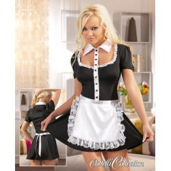 Cottelli Stuepige Kostume Sort med Hvidt forklæde